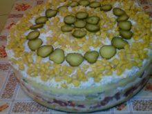 Salty Cake with Potato Layer