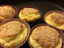 Salty Muffins with Eggs and Feta Cheese