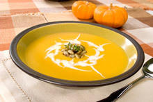Pumpkin Soup with Croutons
