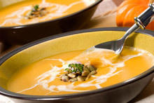 Pumpkin Soup with Chili Peppers