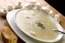 Creamy Potato and Mushroom Soup