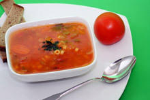 Soup with Rice and Tomatoes
