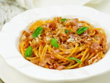 Spaghetti with Tomato-Cream Sauce
