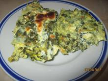 Spring Casserole with Spinach, Zucchini and Onions