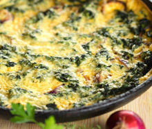 Oven Baked Spinach with Milk