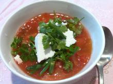 Cold Tomato Soup with Feta Cheese