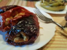Grandma's Stuffed Dried Peppers with Beans