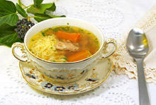 Beer Soup with Pork and Noodles