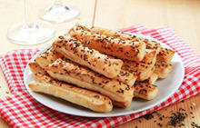 Crackers with Sesame and Caraway