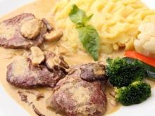 Beef Stew with Mushrooms and Cream