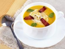 Pumpkin Cream Soup with Bacon