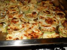 Zucchini in the Oven with Cream and Feta Cheese