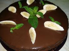 Express Cake with Chocolate and Bananas