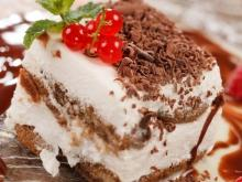 Biscuit Cake with Mascarpone and Chocolate