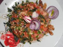 Turkish Salad with Tomatoes and Parsley