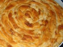 Phyllo Pastry Pie with Sausages and Feta Cheese