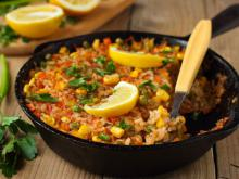 Golden Vegetable Paella