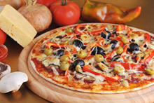 Pizza with Peppers and Cheese