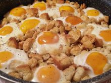 Baked Eggs Napoleon in the Oven