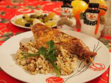 Stuffed Rabbit with Rice and Mushrooms