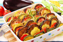 Baked Vegetables with Eggplant and Zucchini