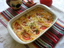 Casserole with Cheeses and Tomatoes