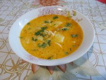 Vegetable Soup with Potatoes, Peas and Vermicelli