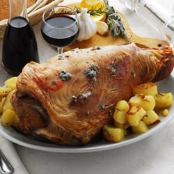 Leg of Lamb with Garlic and Rosemary