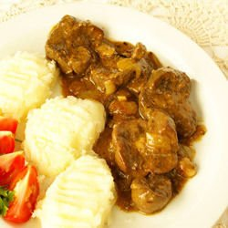 Chicken Gizzards with Potatoes