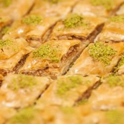 Fancy Turkish Baklava with Pistachios