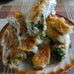 Phyllo Pastry with Ready-Made Sheets, Spinach and Feta