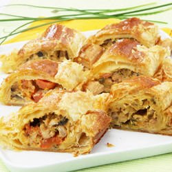 Vegetable Phyllo Pastry Pie with Feta Cheese