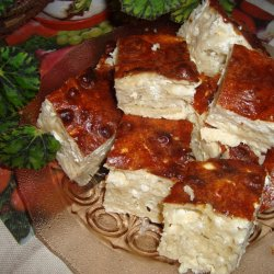 Fluffy Phyllo Pastry with Feta Cheese and Carbonated Water