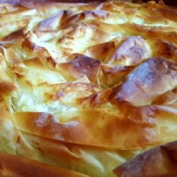 Rice Phyllo Pastry Pie
