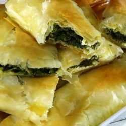 Unique Phyllo Pastries with Spinach and Feta Cheese