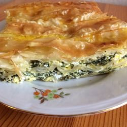 Phyllo Pastry with Feta and Dock