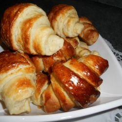 French Croissants with Butter