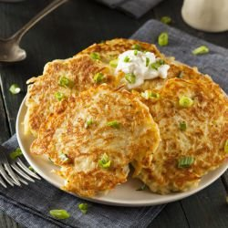 Potato Pancakes in a Pan