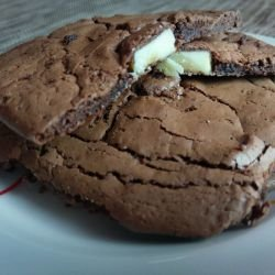 Brownie Biscuits with 2 Kinds of Chocolate