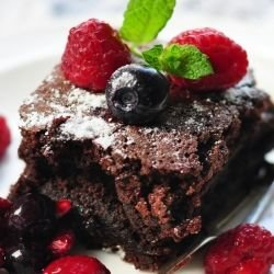 Brownies with Berries