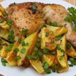 Garlic Chicken Legs with Potatoes