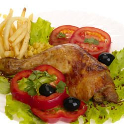 Chicken Legs with White Wine and Olives