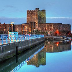 The great pyramid of Giza map,  The great pyramid of Giza location - Carrickfergus Castle