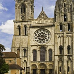 Chicago map,  Chicago location - Chartres Cathedral