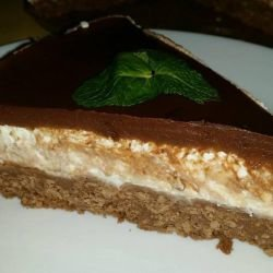 Cheesecake with Pears and Chocolate