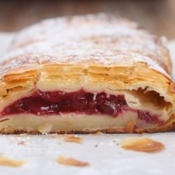 Puff Pastry Strudel with Cherries