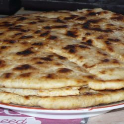 Garlic Flatbread with Baking Powder