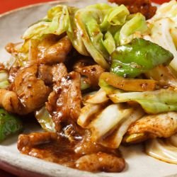 Fried Pork with Chinese Cabbage