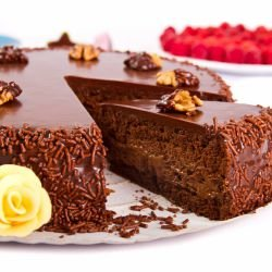 Tasty Chocolate Cake with Glaze