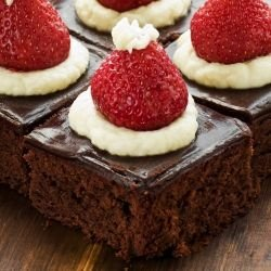 Santa's Hat Brownies